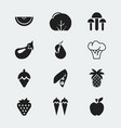 Set of 12 editable dessert icons includes symbols