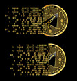set of crypto currency gram golden symbols vector image vector image