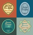 Set of retro vintage styled discount labels vector image vector image