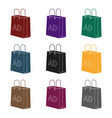 shopping bag advertising icon in black style vector image vector image