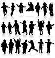 silhouette girls and boys vector image vector image