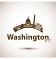 silhouette washington dc usa vector image