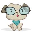 Smart Dog Sitting vector image vector image