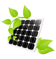Solar cell leaves vector | Price: 1 Credit (USD $1)