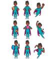 super nurse indian female set vector image vector image