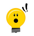 surprised conceptual lightbulb icon vector image vector image