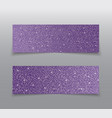 the banner purple sequins glitter sparkle back vector image vector image