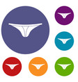 thongs icons set vector image vector image