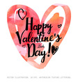 Valentines Day calligraphy hearts vector image vector image