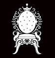 vintage armchair black silhouette french luxury vector image vector image