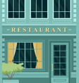 vintage cafe restaurant building facade on city vector image vector image