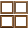 wooden frames isolated on white vector image vector image
