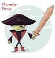 cartoon kids character pirate vector image