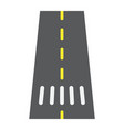 road flat icon asphalt and traffic way sign vector image