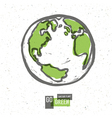 earth planet go green concept vector image