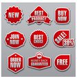 set of red advertising and promotion banners vector image