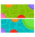 2 horizontal banner with circles and circles with vector image vector image