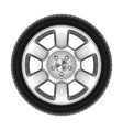 auto wheel isolated or black car tyre tire vector image vector image