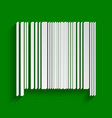 bar code sign paper whitish icon with vector image