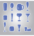 blue glasses icons set eps10 vector image vector image