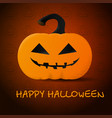 bright pumpkin for halloween created for your vector image