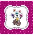 bulb light icon design vector image vector image