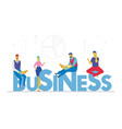 business - flat design style colorful vector image vector image