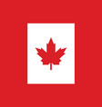 canadian flag official colors and proportion vector image