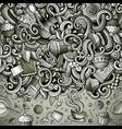 cartoon doodles cafe coffee shop border vector image