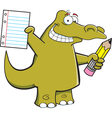 Cartoon Student Alligator vector image vector image