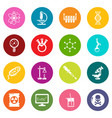 chemistry laboratory icons set colorful circles vector image vector image