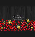 christmas background with realistic vector image vector image