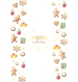 Christmas gingerbreads and gifts vector image vector image