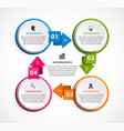 circle infographics template infographics for vector image vector image