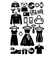 clothing shop icon vector image vector image