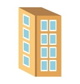colorful four floor building graphic vector image