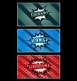comic colorful horizontal banners vector image vector image