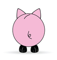 cute back of pig vector image vector image