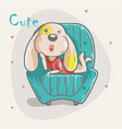 cute dog girl vector image
