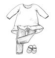 Drawing clothing for little girls vector image vector image
