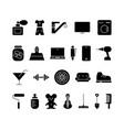 e-commerce silhouette icons set black and white vector image vector image