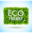 Eco friendly label made of leaves vector image