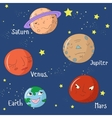 Educational game for children learn planets vector image