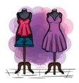 female fashion dress icon vector image vector image