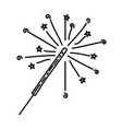 fireworks icon doddle hand drawn or black outline vector image