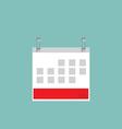 Flat calendar icon vector image vector image
