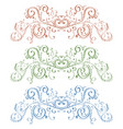 floral ornaments colored vintage decorations vector image vector image