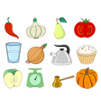 food related objects vector image vector image