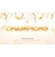 golden word champions winning vector image vector image