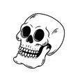 hand drawn skull design element for logo emblem vector image vector image